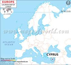 where is on the map where is cyprus location of cyprus