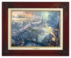Classic Paint Tinker Bell And Peter Pan Fly To Neverland U2013 Canvas Classic The