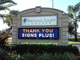 lighted message board signs led church signs with changeable scrolling marquee letters