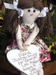 flower girl doll gift personalised handmade flower girl bridesmaid rag doll gift made in