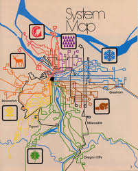 San Diego Transit Map by Portland Or Transit System Map 1978 Inspired Graphics