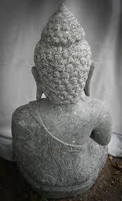 statues de jardin en pierre statue de bouddha assis en pierre volcanique position chakra 80cm