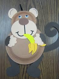 Paper Plate Monkey Craft - monkeys storytime