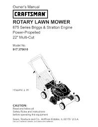 craftsman lawn mower 917 370610 user guide manualsonline com