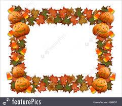 halloween candy background illustration of halloween border leaves pumpkins