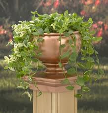 copper planter post cap for deck deck u0026 patio landscaping