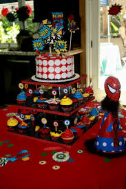 Superman Decoration Ideas by Spiderman Birthday Party Decorating Ideas Archives Decorating Of