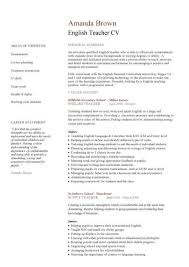 Resume English Academic Cv Template Curriculum Vitae Academic Cvs Student English