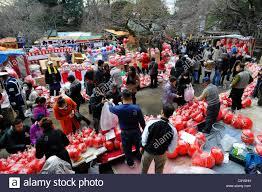 march 3 2012 tokyo japan vendors of daruma dolls japanese