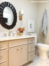 How To Paint Old Bathroom Tile - remodelaholic chalk paint bathroom vanity makeover
