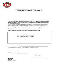 eviction notice lease termination