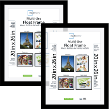 Poster Frame Ideas Mainstays 20x26 Multi Use Float Poster And Picture Frame Set Of 2