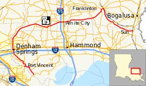 louisiana highway map louisiana highway 16