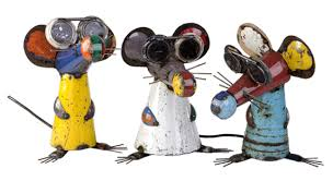 three blind mice recycled steel ornament set 149 99