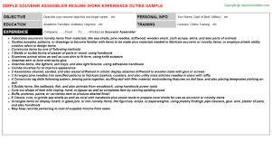 Sample Assembler Resume by Nir Resumes Samples