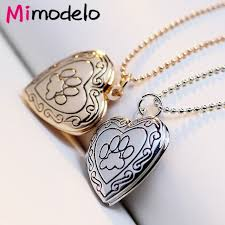 s day locket photo frame memory locket pendant necklace silver gold color