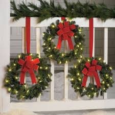 decorating lighted wreaths for outdoors lowes pre lit garland