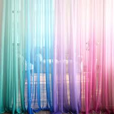 Ombre Sheer Curtains Ombre Gradient Sheer Curtain