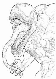 free printable venom coloring pages for kids in spiderman coloring