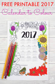 2017 floral colouring calendar mum in the madhouse