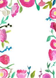 garden flowers free printable wedding invitation template