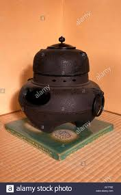 japanese heater antique used japanese interior iron heater stock photo 104036170