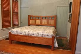 hand crafted arial fields modern walnut cherry bedroom set bed