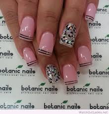 botanic nails pink leopard and lines watchoutladies