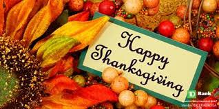 td bank on happy thanksgiving we are thankful for all