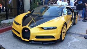 yellow bugatti chiron bugatti chiron u0026 more at the car show youtube
