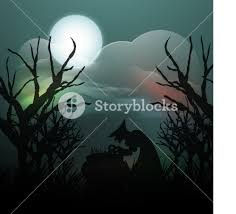 banner or background for halloween party spooky night background