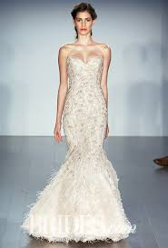 feather wedding dress lazaro fall 2015 mermaid wedding dress and gowns