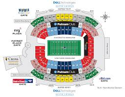 New England Maps by Seating Map New England Patriots