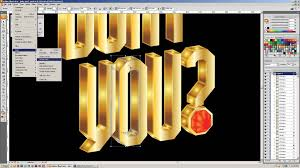 adobe illustrator tutorial create gold 3d type encrusted in