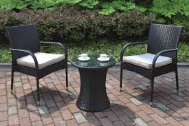 Wrought Iron Patio Bistro Set Dining Room Dandy Black Wicker Set With Popular Wrought Iron