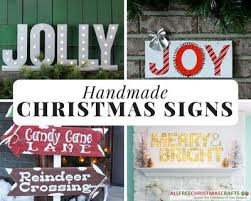 christmas signs 19 creative handmade christmas signs allfreechristmascrafts