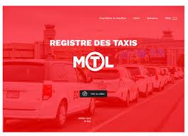 bureau des taxis création du site du registre des taxis du bureau du taxi de montréal