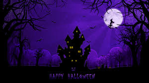 halloween background repeating happy halloween purple baground