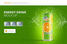 energy drink can mockup by webandcat store on creative market
