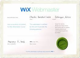 webmaster i am the first certified wix webmaster in belize digital