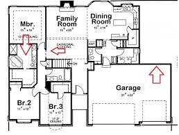 four bedroom three bath house plan extraordinary plans ranch floor