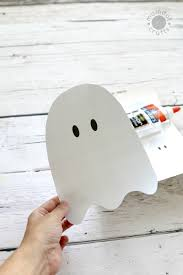 cotton ball ghosts with free downloadable ghost template momdot