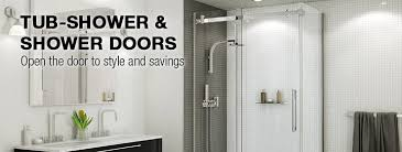 glass bath shower doors tub shower u0026 shower doors at menards