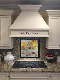 Kitchen Murals Backsplash In Stock Tile Murals And Mosaic And Metal Accent And Medallions