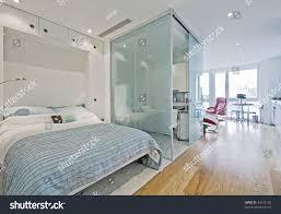 luxury studio apartment fold down bed stock photo 45472135