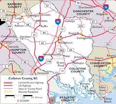 sc highway map maps of colleton county south carolina