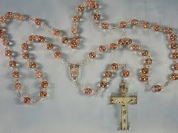 glow in the rosary glass glow in the rosary topaz pink glow in the