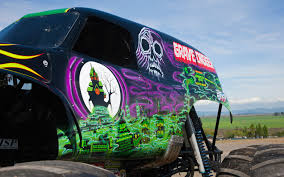 monster truck power wheels grave digger ride along with grave digger performance video truck trend