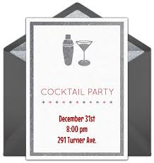 Cocktail Party Invite - festive holiday cocktail party invitations