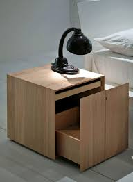 Plywood Bedside Table by Contemporary Bedside Table Matte Lacquered Wood Hemlock